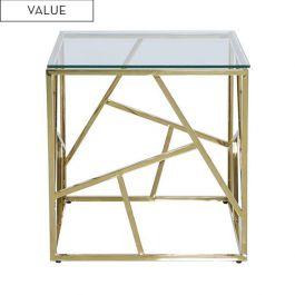 Luna Gold Metal End Table