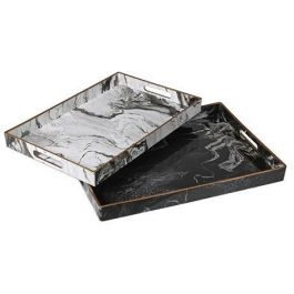 Marble Design Trays Set Of 2