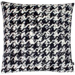 Nevado Velvet Jacquard Cushion Magpie/Black