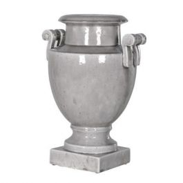 Grey Urn with Handles