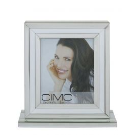 White and Mirrored Box Photo frame 8x10
