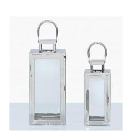 Pure Steel Lantern Set Of 2