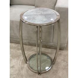 SCARLETT Large Table - Grey  Marble