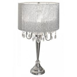 Beaumont Four Light Silver Tube Table Lamp