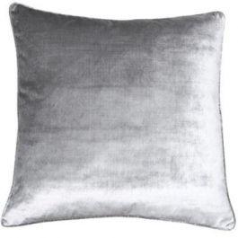 Luxe Silver Velvet Cushion
