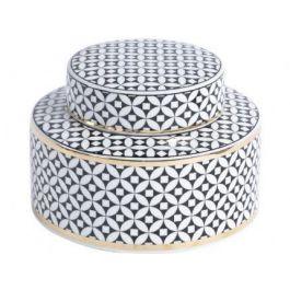 Black And Gold Ceramic Jar Small