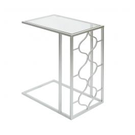 Medina Chrome & Glass Sofa Table