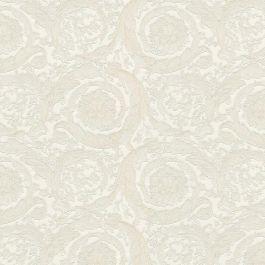 Versace Home flower floral cream metallic
