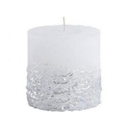 White Candle textured silver base 10x10
