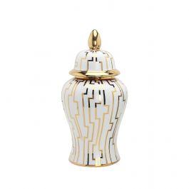Large Gold/White Eliza Jar