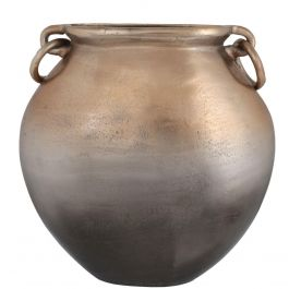 Gold Graduated Urn Vase With Handles