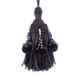 Capella Key Tassel Black
