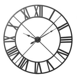 Metal Outline Black Clock