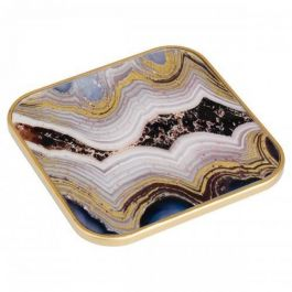 Coasters Square Oyster Design Set of 4