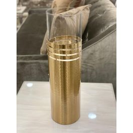 Gold Dimple Ring Candle Holder - Large
