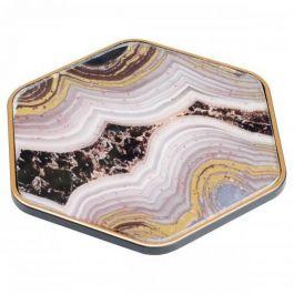 Coasters Hexagonal Oyster Design Set of 4