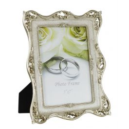 Gold and Pearl Band Photo Frame Small