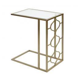 Medina Gold & Glass Sofa Table