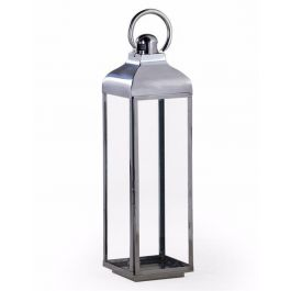 Chrome And Glass Lantern X-Large