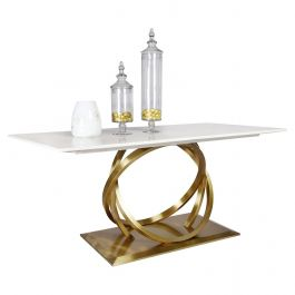 Harley Marble & Gold 180cm Dining Table
