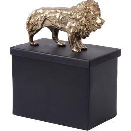 BLACK GOLD METAL LION TIN