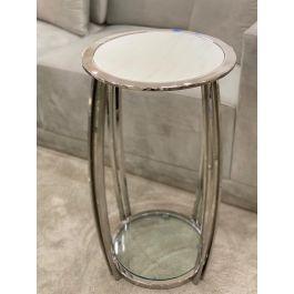 SCARLETT Large Table - White Marble