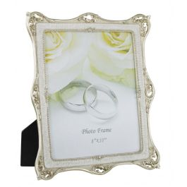 Gold and Pearl Band Photo Frame Large