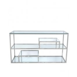 Glass Shelf Console