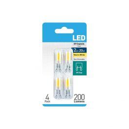 Warm White LED G9 Bulb 4 Pack