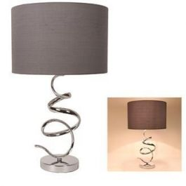 Spiral Silver Table Lamp