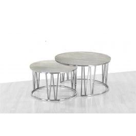 Mila Grey Marble Coffee Table Set