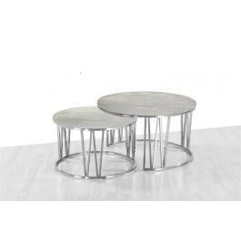 Mila Grey Marble Coffee Table Set