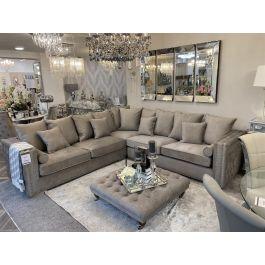 Valentia Corner Sofa - Silver