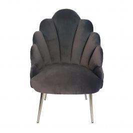 Tulip Velvet Chair Dark Grey