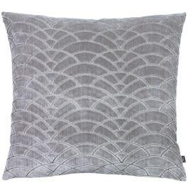 Dinari Graphic Cut Velvet Cushion Smoke/Steel