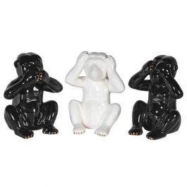 Set of 3 Black & White Monkeys