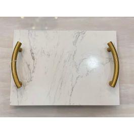 Gold Marble Rectangular Tray