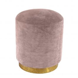Dusty Pink Velvet Small Stool