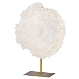 White Faux Coral On Stand