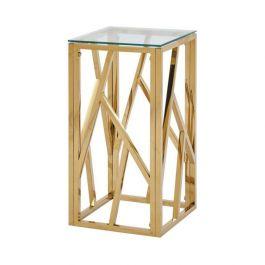 Azaria Gold Metal Telephone Table