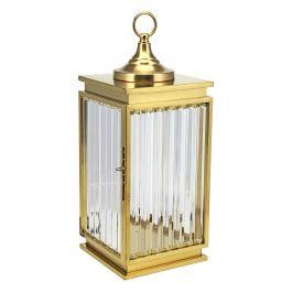 Gold Glass Lantern - Large