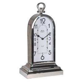 NICKLE TABLE CLOCK