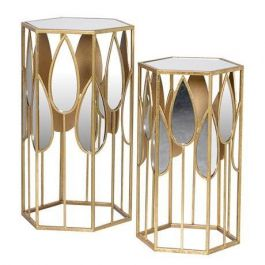 Raindrop Mirror Set Side Tables
