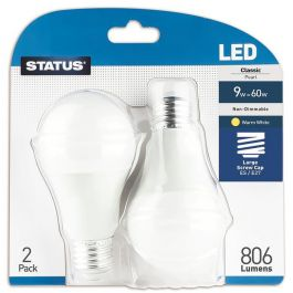 Warm White LED Edison Screw Bulb 2 Pack