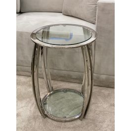 SCARLETT Small Side Table - Clear glass