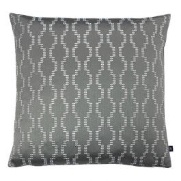 Nash Embroidered Cushion Fog/Dark Grey