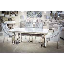 Alma Dining Table Grey 1800mm