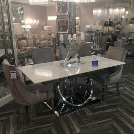 Harley Marble Dining Table And 6 Emilla Chairs