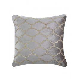 Marrakech Patterned Beige Velvet Cushion 50X50