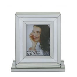 White and Mirrored Box Photo Frame 5x7